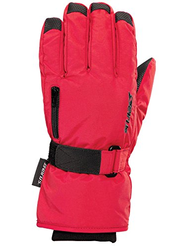 Seirus Innovation Jr Stash Gloves, Small, Red