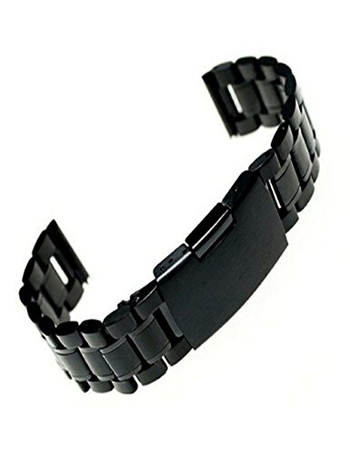 Dreaman Stainless Steel Bracelet Watch Band Strap Straight End Solid Links 18/20/22mm (20mm)