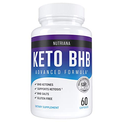 Nutriana Keto Diet Pills - Ketogenic Complete Keto Pills for Women and Men - Keto Supplement BHB Salts - Keto Fast Exogenous Ketones - Ketosis Keto XP Pills - Keto VIP - 60 Capsules 30 Day Supply