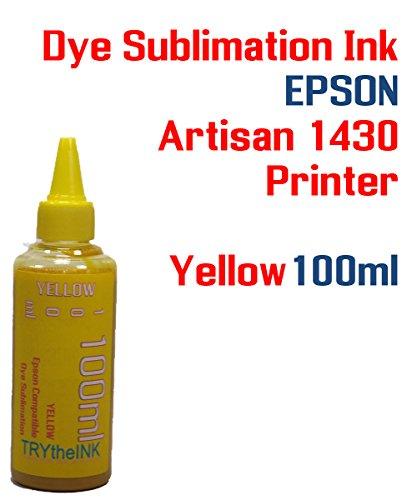 85d1ae4e0 Dye Sublimation Ink - Yellow 100ml Bottle - Artisan 1430 Printer - Heat  Transfer Printing