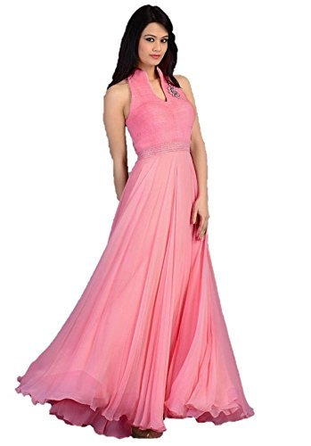 acb3d14922 Cloth Velly Women's Velvet Gown (Pink): Amazon.in: Clothing & Accessories