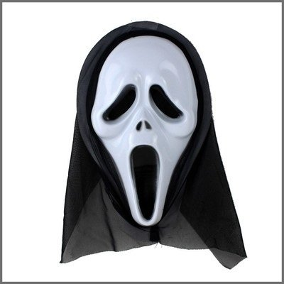 [Fashion Cosplay for Halloween Masquerade Carnival Party Mask (Scream)] (Half Doll Half Zombie Costume)