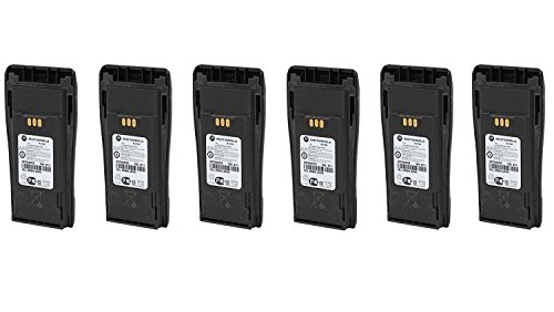 Motorola Original OEM NNTN4497CR 6 Pack LI-ION High Capacity Battery for Motorola Walkie Talkie CP200D CP200 PR400 & More Original Motorola Battery NNTN4497 by Motorola