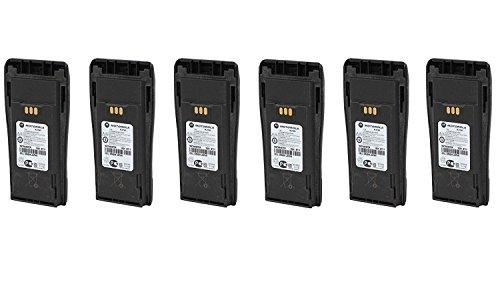 Motorola Original OEM NNTN4497CR 6 Pack LI-ION High Capacity Battery for Motorola Walkie Talkie CP200D CP200 PR400 & More Original Motorola Battery NNTN4497 by Motorola (Image #1)