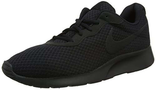 Nike Casual Sneakers - Nike Men's Tanjun Running Shoe, Black/Black/Anthracite 13