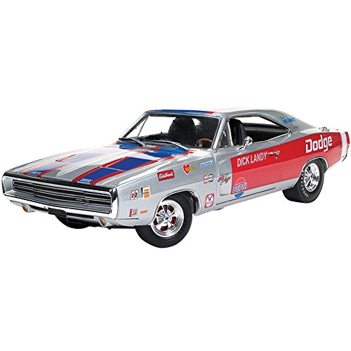 1:18 MUSCLE CARS 1970 DODGE CHARGER R/T DICK LADY SILVER AW238 DIECAST BY AUTO WORLD (Dodge 18 Diecast Charger Scale)