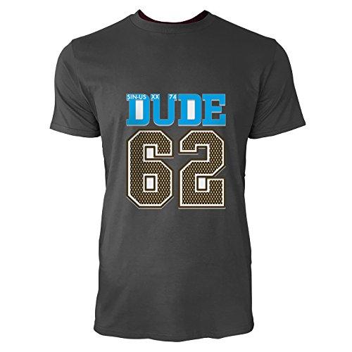 SINUS ART® Dude 62 Sportliches Motiv Herren T-Shirts in Smoke Fun Shirt mit tollen Aufdruck