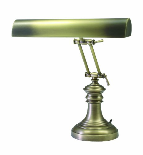 House of Troy P14-204-AB 16-Inch Portable Desk/Piano Lamp Antique Brass Antique Brass Portable Table Lamp