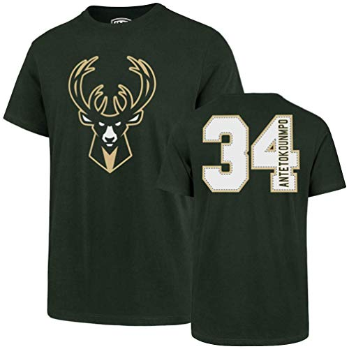 NBA Milwaukee Bucks Men's Player OTS Rival Tee, Giannis Antetokounmpo/Dark Green, Large