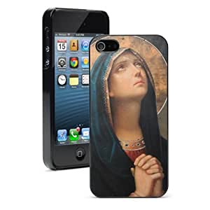 Apple iPhone 5c Black 5CB215 Hard Back Case Cover Color Antique Catholic Icon Virgin Mary Praying