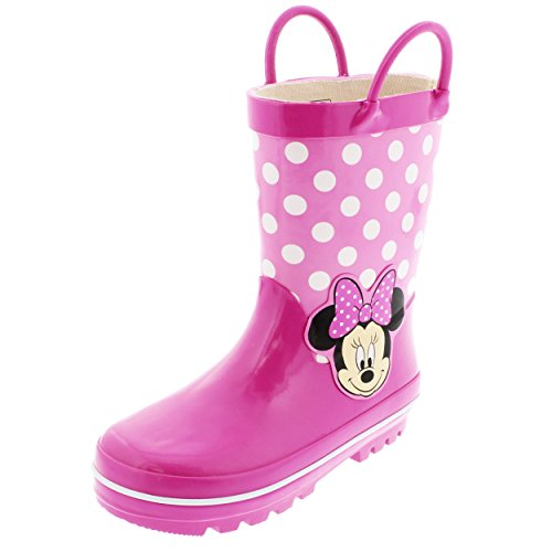 Minnie Mouse Kids Rain Boots (9/10 M US Toddler, Polka Dot Pink) (Minnie Mouse Rain Boots For Girls compare prices)