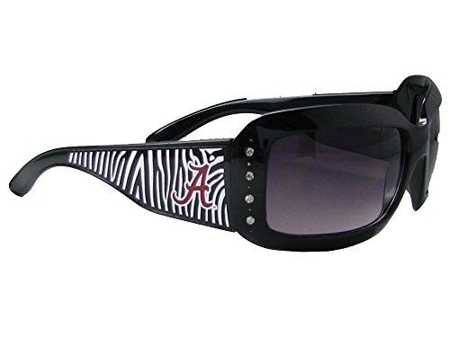 Alabama Crimson Tide UA Black NCAA Zebra Print Womens Crystal Sunglasses S4ZB
