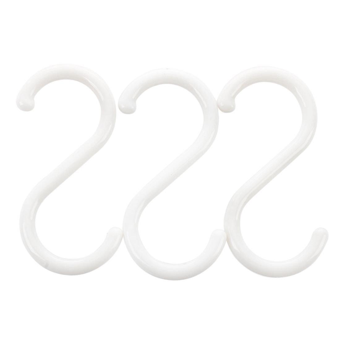 Sonline Household White S Hooks Clothes Towel Hanger Rack Hanging Holder 3PCS