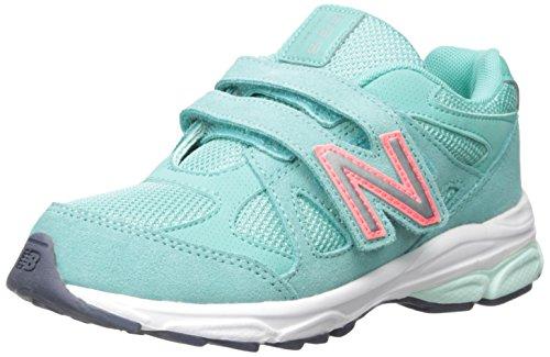 New Balance KV888V1 Pre Running Shoe (Little Kid) Grey/Green