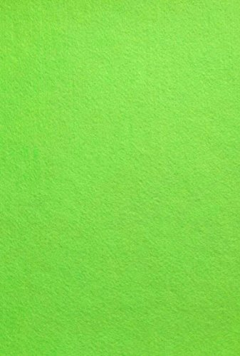 Adhesive Felt Ribbons - Felt (Lime Green - PMS 376) sticky Back, A4 sheet (8.27