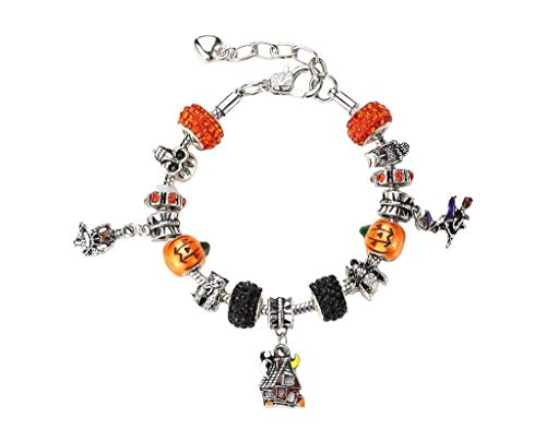 NOVADAB Spooky Halloween Shamballa Charms (Includes six Beautiful shamballa Beads) ()