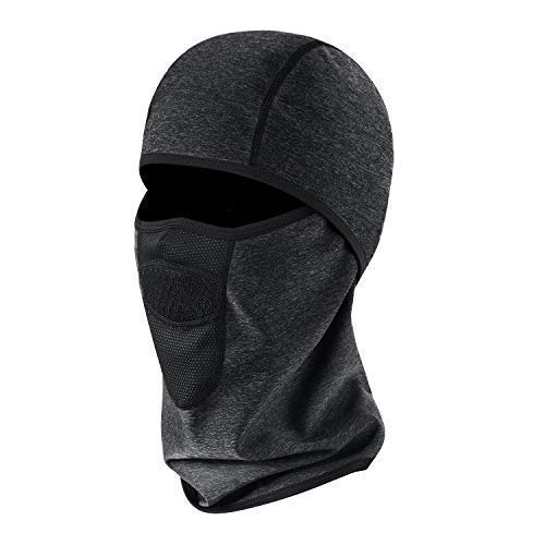 Aegend Windproof Balaclava for Adult Men Women, Thermal Ski Face Mask for Cold Weather, Neck Warmer Tactical Balaclava Hood, Motorcycle Running Snowboard Cycling Helmet Liner Mask, Black