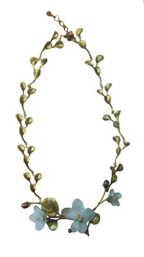''African Violet'' 16'' Contour Necklace by Michael Michaud for Silver Seasons by Michael Michaud
