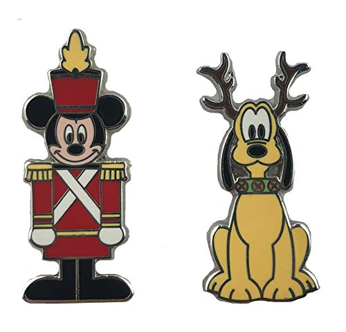 (WDW Trading Pin - Mickey Mouse as Wooden Soldier and Pluto as Reindeer)