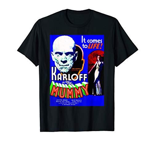 Vintage Horror Movie Poster - Mummy Horror Movie Retro Film  T-Shirt