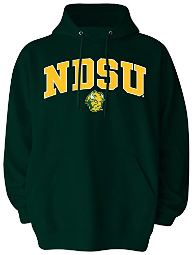 NCAA North Dakota State Men's Big Pullover Hoodie, 2X-Large Tall, Forest Green
