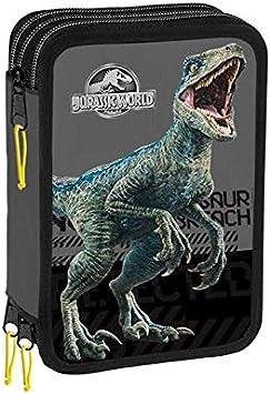 Selección varzi desde 1956 Estuche tres cremalleras - Jurassic World: Amazon.es: Juguetes y juegos