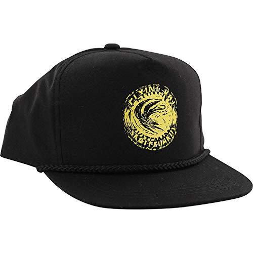 be31d18a464 Anti Hero Skateboards Flying Rat Poplin Black Snapback Hat - Adjustable