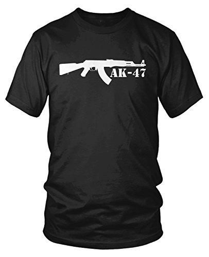 Amdesco Men's AK-47 Rifle, Assault Rifle T-Shirt, Black 2XL (Clothing Ak47)