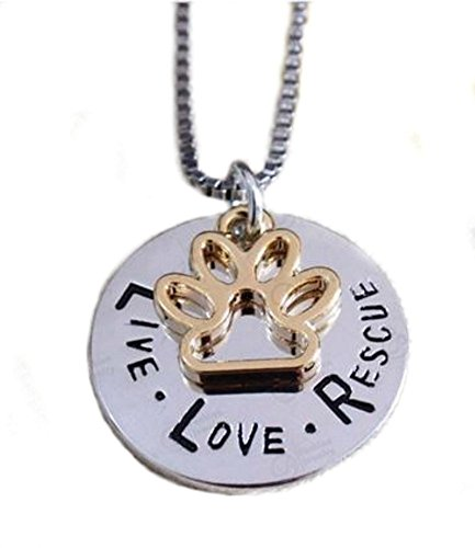 Animal Rescue Jewelry -  Pendant Necklace Charm Jewelry - For the Love of Pets