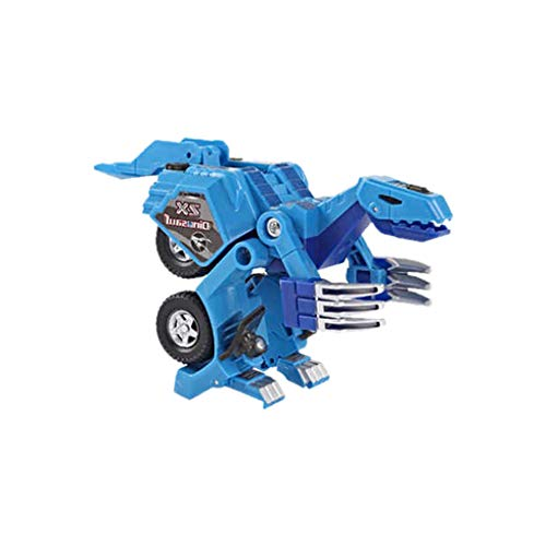 Deformation Dinosaur Robot,Children's Toy Acoustic and Light Deformation Robot-Car Anime Figurine Educational Game Toy (Blue, Robot ()