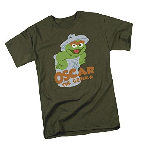 Oscar The Grouch -- Sesame Street Adult T-Shirt, Medium