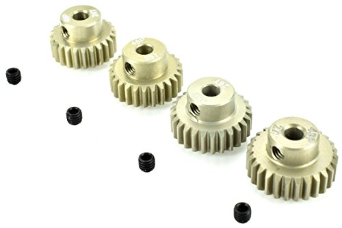 Apex RC Products 48 Pitch 24T 25T 26T 27T Aluminum Pinion Gear Set ()
