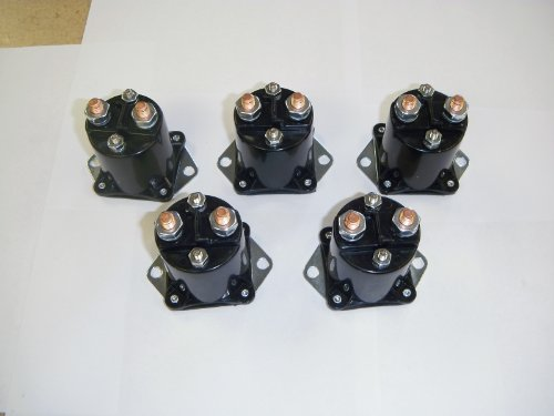 (SET OF 5) 36-volt, 4 terminal, solenoids with copper contacts. For Club Car electric 1976-1987.