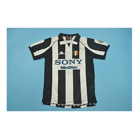 PEAK Del Piero#10 Juventus Home Retro Soccer Jersey 1997-1998 Full UCL.Patch