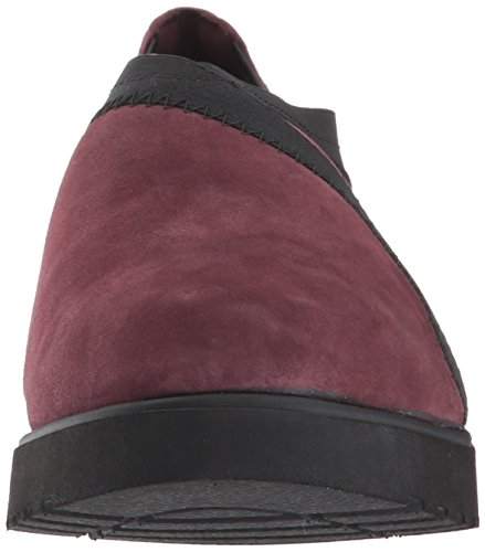 CLARKS Damen Bellevue Cedar Slip-On Loafer Burgunder Wildleder