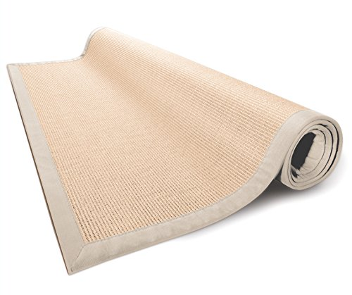 casa-pura-Amazonas-100-Natural-Sisal-Rug-with-Cotton-Border-Natural-Non-Slip-Latex-Backing-3-Sizes-2-Colors