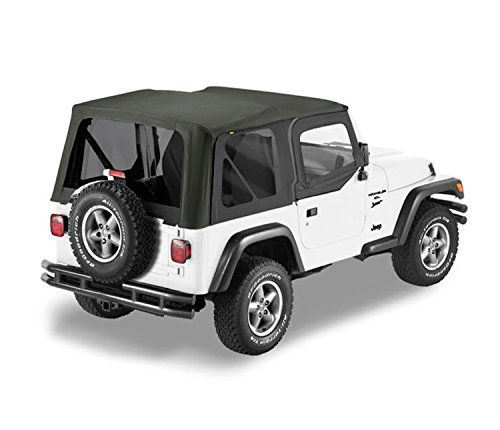 Bestop 79129-35 Black Diamond Sailcloth Replace-A-Top Soft Top with Tinted Windows and Upper Door Skins for 2003-2006 Wrangler TJ (Except Unlimited)