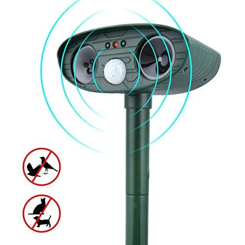 GADEMATA | Repellents | Solar Ultrasonic Repeller Deterrent Pest Outdoor Garden Cat Infrared Sensor Animal Repellent Chaser Ultra Sonic Repeller (Pest Ultrason Repeller)
