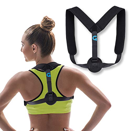 Posture Corrector for Women & Men - Under Clothes Back Brace, Trainer & Straightener, Helps with Spine Alignment, Shoulder Support, Neck Pain, Slouching & Provides Lumbar Support (Comfy & Light)