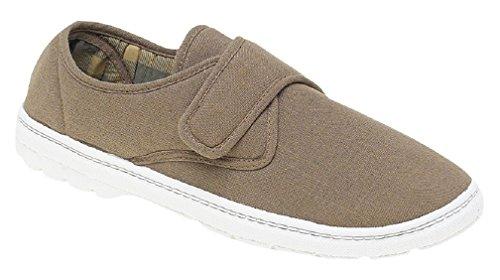 GORDINI Eliot para Hombre Acolchada Informal Zapatos CIERRE ADHESIVO DENIM AZUL Beige - gris