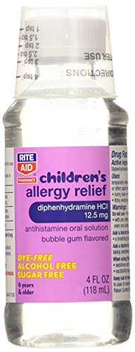 Rite Aid Childrens Allergy Relief Bubble Gum Flavored 4 Fl Oz