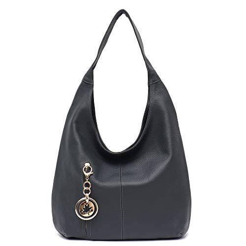 Women Hobo Bags STEPHIECATH Fashion Luxury Cow Leather Soft Tote Shoulder Bag (NAVY) ()