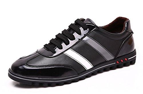 Minitoo , Chaussures à lacets homme - Blanc Cassé - Bianco (Nero/Bianco), 40 EU