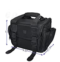 Deluxe Large Digital Camera / Video Padded Carrying Bag / Case for Nikon, Sony, Pentax, Olympus Panasonic, Samsung, and Canon DSLR Cameras & eCostConnection Microfiber Cloth by eCostConnection