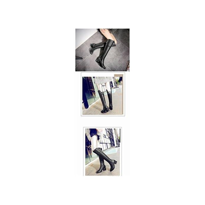 Ani Scarpe Invernali Modello Di Pietra High Cilindri Cavaliere Stivali Cerniera Laterale Più Cashmere Caldo Con Da Donna