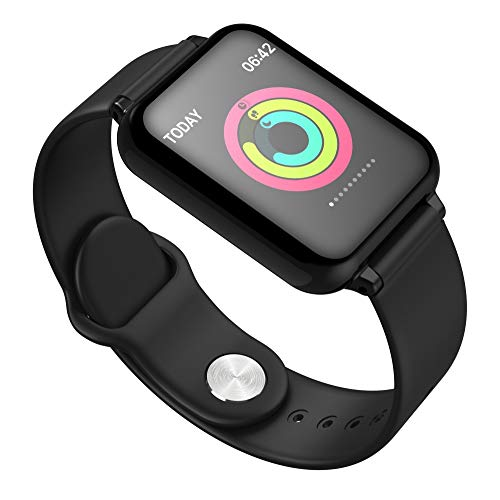 Price comparison product image Lovewe Y77 Smart Watch, Heart Rate Monitor Bluetooth Wristband Fitness Tracker Smart Watch Sport Bracelet For Android iOS (Black)