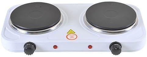 Hornillo eléctrico de camping portátil Doppio 1000 W + 1500 W