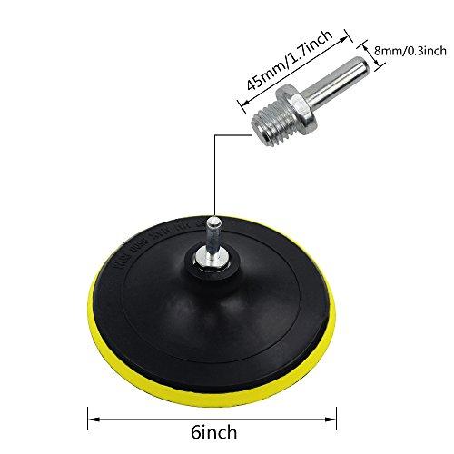 Coceca 7pcs 6'' Polishing Pad Kit, Sponge and Wool Polishing Pad Set with M14 Drill Adapter by Coceca (Image #1)