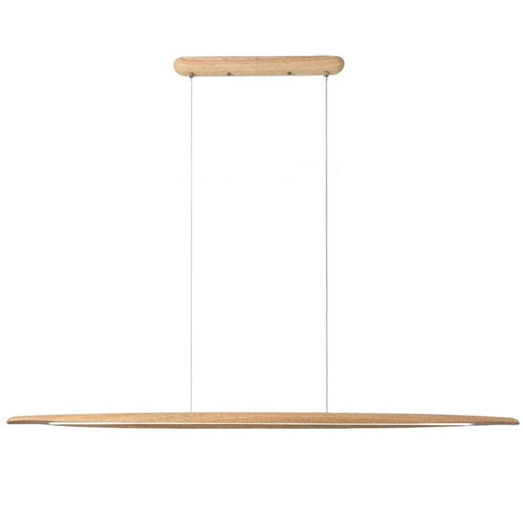 LED Pendelleuchte Modern design Hängelampe Hängeleuchte aus Holz Pendellampe Dimmbar Pendelleuchten maximum 150 cm höhenverstellbar Kronleuchter für Esszimmer Wohnzimmer Schlafzimmer Innenleuchte