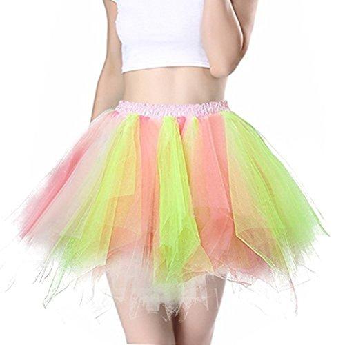 Tutu Skirt, Princess Dresses Sparkle Halloween Ballet Bubble Skirts Women's 50s Vintage Petticoat Party Accessory Tutu Skirt (ColorI)